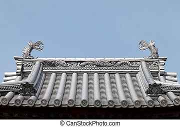 Japanese temple roof