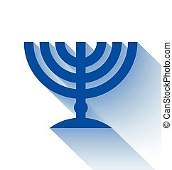 Jewish menorah - Traditional Jewish menorah candleholder...