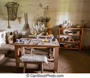 Traditional kitchen in mission in California