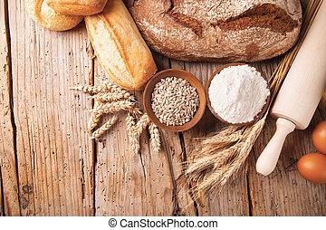 Traditional kitchen ingredients