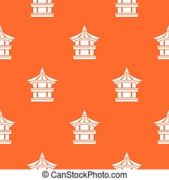 Traditional korean pagoda pattern seamless