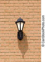 Traditional Light on Brick Wall