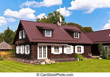Traditional Lithuanian House in Trakai, Lithuania.