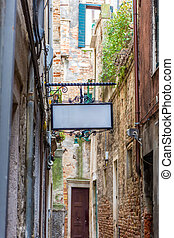 Traditional little street in Venice, Italy