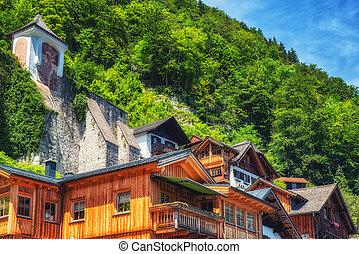 Traditional local house, Hallstatt, Austria