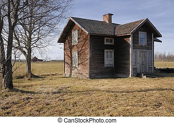 Traditional log cabin