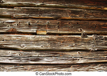 traditional log home wall - old traditional log home wall