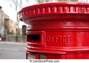 traditional london red letter box