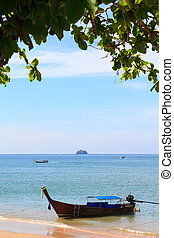 Traditional longtail boat at Andaman sea, Thailand
