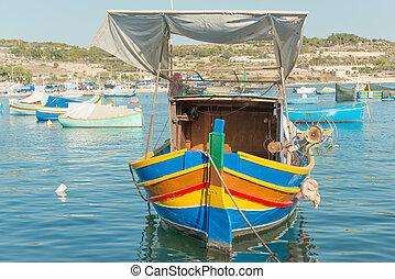 Traditional luzzu boat