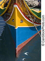 Traditional Luzzu fishing boat - Malta