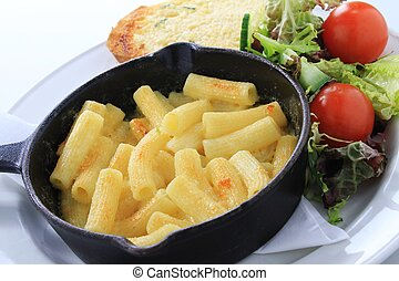 macaroni cheese - traditional macaroni cheese meal