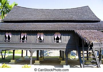 Traditional Malay House - Image of a traditional Malay...