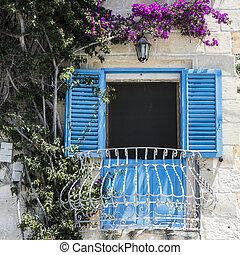 Traditional maltese window