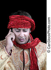 Traditional Man on Phone
