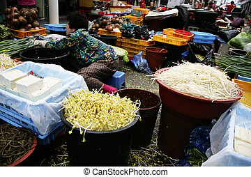 Traditional market in south korea
