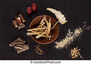 Traditional medical herbs. - Traditional medical herbs from...