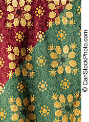Traditional medieval fabric design