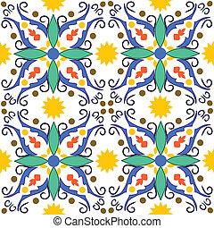 traditional mediterranean pattens - seamless vector pattern...