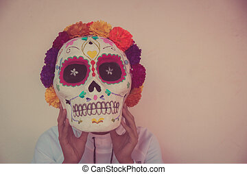 Traditional mexican catrina handcraft