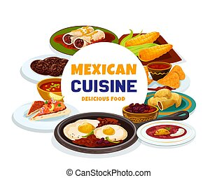 Traditional Mexican food, authentic meal dishes
