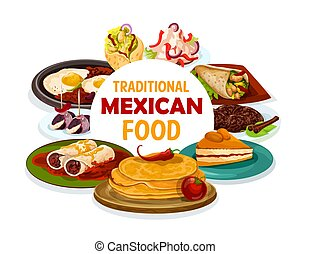 Traditional Mexican food, authentic Mexico dishes