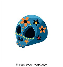 Traditional Mexican Painted Skull