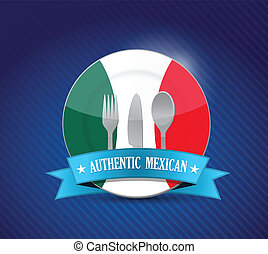 Traditional mexican restaurant , menu illustration design...