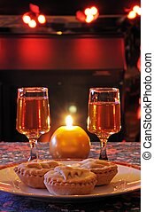 Traditional mince pies and sherry.