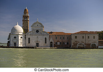 Traditional Monumental Buildings in Venice, Italy