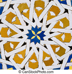 Traditional Moroccan tile pattern