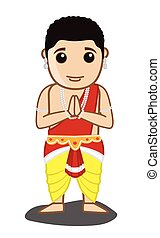 Traditional Mythological Indian Man