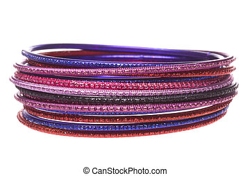 Traditional Nepalese Bangles Macro Isolated