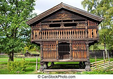 Traditional Norwegian House . The Norwegian Museum of...