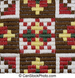 Traditional Norwegian star shaped embroidered pattern in...