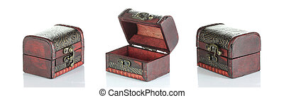 Traditional of wooden box set.