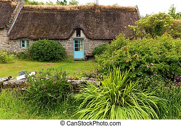 Traditional old cottage in Brittany