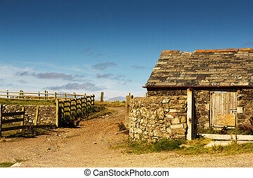 Traditional old farmhouse in the Cornish countryside