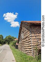 Traditional old house in South-East Serbia or Bulgaria, Balkan Mountain - Stara Planina