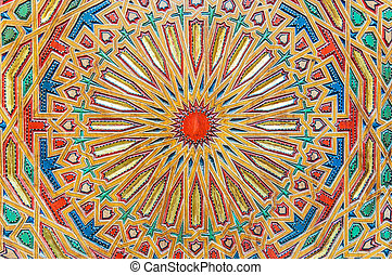 Traditional oriental carving in Fez, Morocco, Africa
