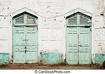 traditional ottoman influence doors in massawa eritrea