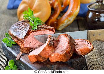Bavarian meat loaf - Traditional oven fresh Bavarian meat ...