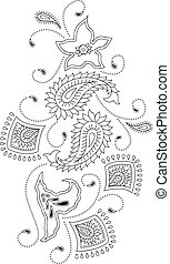 Traditional paisley design