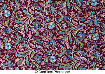 Traditional paisley pattern cashmere pashmina sample -...