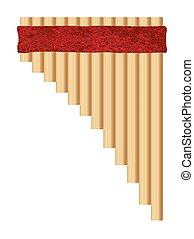 Traditional Pan Pipes - A set of tradition type pan pipes on...