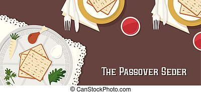 traditional passover table for Passover dinner with passover...