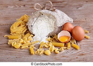 Traditional pasta ingredients