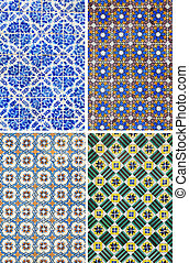 Traditional pattern tiles in Lisbon