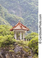 Traditional Pavillion atop Cliff