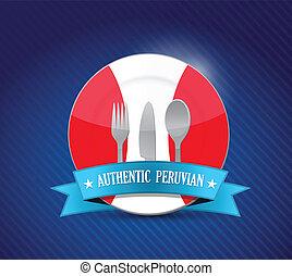 Traditional peruvian restaurant , menu illustration design...